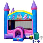 Blow Up Inflatable Bounce House Commercial Jump House Pink Bouncer With Blower