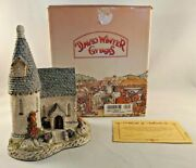 David Winter Cottages - 1984 - The Chapel - Hand Signed On Bottom