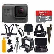 Gopro Hero6 Black + Sandisk Ultra 32gb Micro Sdhc Memory Card And More