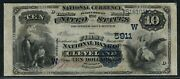 Fr578 Ch 5911 10 1882 Cleveland Ok Value Back Only 3 Recorded Vf++ Wlm5450
