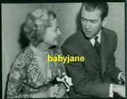 Joan Fontaine James Stewart Vintage 7x9 Photo Candid Showing Cleavage