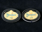 Only Set On Ebay 1995 And 2004 Walt Disney Replica 1955 Name Badge Pins With Tins