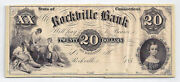 185x The Rockville Bank Ct. - 20 Proof Note Mounted On Card Stock - 385-g12