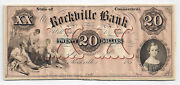 185x The Rockville Bank Ct. 20 Proof Note Mounted On Card Stock 385-unl W/tint