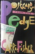 Autographed Carrie Fisher Postcards From The Edge Book
