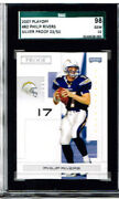 2007 Playoff Philip Rivers Sgc 98/ Gem 10 Silver Proof 23/50