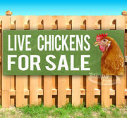 Live Chickens For Sale Advertising Vinyl Banner Flag Sign Many Sizes Usa