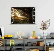 3d Forest Tree 58 Open Windows Mural Wall Print Decal Deco Aj Wallpaper Ivy