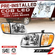 [cree Led Bulb Installed] For 00-04 Toyota Tundra Chrome Replacement Headlight