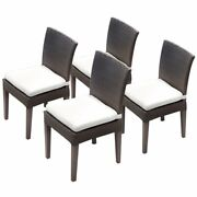 Tkc Napa Patio Dining Side Chair In White Set Of 4