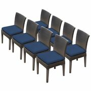 Tkc Napa Patio Dining Side Chair In Navy Set Of 8