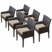 Tk Classic Napa Patio Dining Arm Chair In Tan Set Of 6