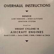 Bendix Scintilla Low Tension Ignition On Wright Cyclone 18 R-3350 Ohc Manual