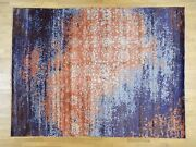 8and03910x11and03910 Wool And Silk Modern Broken Design Handknotted Rug G32420