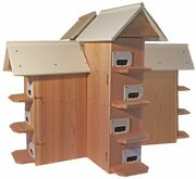 Flying Martins T-14 Purple Martin Bird House - Conley Ii Or Round Hole Entrance