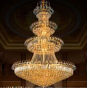 Top Golden Led Crystal Ceiling Chandelier Living Room Staircase House Hall Light