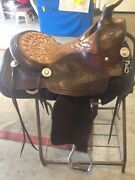 Pat Gill Vintage Saddle 16-161/2 In Padded Seat Original Silver. Show/pleasure.