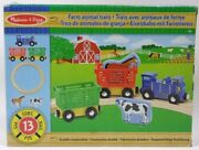 Melissa And Doug Farm Animal Train Set Wooden Magnet Circular Track Horse And Cow