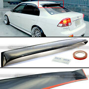 For 01-05 Honda Civic 4dr Sedan Acrylic Rear Roof Windshield Wing Visor Spoiler