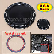 Black Edge Cut 5 Hole Derby And Timing Timer Covers For Harley Twin Cam 1999-2014