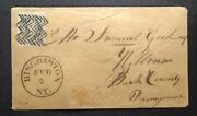 Us Stamp 1a Used On Cover Rare Binghamton Herringbone Fancy Cancel Signed