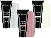 3x30g Poly Acrylgel Dual System Tube French Look Clear Soft White Light Pink Led