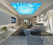 3d Blue Lines 462 Ceiling Wall Paper Print Wall Indoor Wall Murals Ca Carly