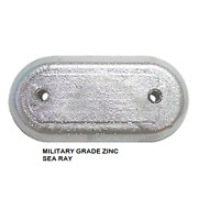 Sea Ray Oval Hull Plate With Zinc Anode New Dealer Direct 406 Salt Water