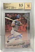 Cody Bellinger 2017 Topps Now Red And039d 3/10 - Rc Autograph Auto 10 Bgs 9.5 Pop 1