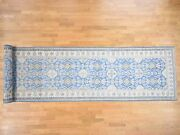 5and039x25and0398 Handknotted Wide Runner Vintage Look Kazak Pure Wool Rug G40638