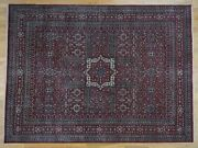 9and039x12and039 Vintage Look Mamluk Distressed Zero Pile Shaved Low Pure Wool Rug G40620