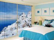 3d House Sea 111blockout Photo Curtain Printing Curtains Drapes Fabric Window Ca