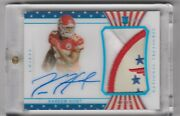 2017 Treasures Kareem Hunt Auto Patch Rc Star And Stripes /13 Wow