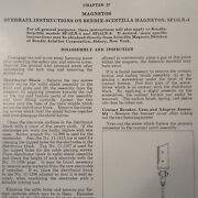 Scintilla Sf14ln-3 Magneto As Used On R-1830 Overhaul Manual Booklet
