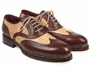 Paul Parkman Triple Leather Sole Goodyear Welted Wingtip Brogues Id095bej