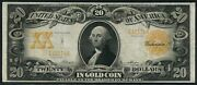 Fr1184 20 1906 Gold Note Vf+ Napier / Thompson Only 127 Recorded Wlm5736