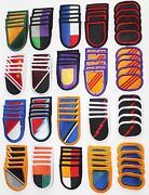 Lot Of 100 Army Insignia Flash And Oval Military Beret Multicolor Patches - 100a