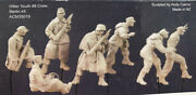 1/35 Ww2 Artillery 7 People No The Cannon No Platform High Quality Resin Kit