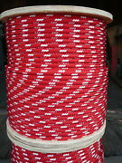 Novatech Xle Halyard Sheet Line Dacron Sailboat Rope 3/8 X 250and039 Red/white
