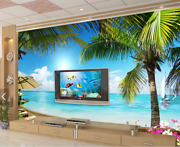 3d Coco Beach Natural 669 Wall Paper Wall Print Decal Deco Indoor Wall Mural Ca