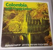 Braniff Colombia With Flying Colors Cathedral Poster, 15x15 In. Original.