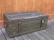 Vintage Wwii Military Tool Chest W/ Drawers Us Army Signal Corps Wood Tool Box