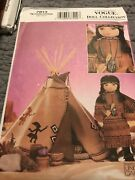 New Uncut Vogue 7813 18 Doll Collection Clothes Pattern - Teepee And Dress