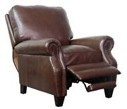 Barcalounger Briarwood Ii Genuine Shoreham Chocolate All Leather Recliner Chair