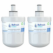 Refresh Replacement Water Filter Fits Samsung Da29-00003 Refrigerators 2 Pack
