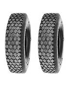 Pack Of 2, Deli Tire 4.10/3.50-5, Stud, 4 Ply, Tubeless, Lawn Garden Tires