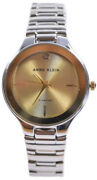 Anne Klein Ak/2425chtt Gold Tone Dial Diamond Accent Stainless Womenand039s Watch