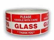 Please Glass Handle Care Shipping Stickers 2x3 1000 Labels P/r 50 Rolls