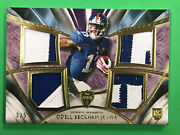 2014 Topps Supreme Odell Beckham Jr Rookie Quad Patch 3/5 Giants Rc Bb 6