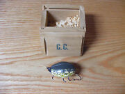Carl Christianson Beetle Bug Lure In Grn Yel Spotted Northern Color In Wood Box